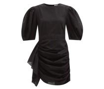 Pia Ruffled Cotton-poplin Mini Dress
