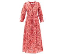 The Juniper Pansy Leopard-print Cotton Dress