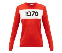 1970-intarsia Wool Sweater