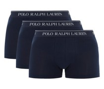 Pack Of Three Logo-jacquard Cotton Boxer Briefs