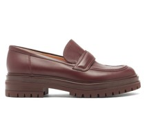 Argo Tread-sole Leather Loafers