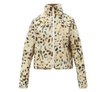 Leopard-print Technical Padded Jacket