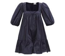 Square-neck Taffeta Mini Dress