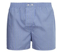 Classic Fit Checked-cotton Boxer Shorts