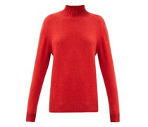 Oversized High-neck Cashmere Sweater