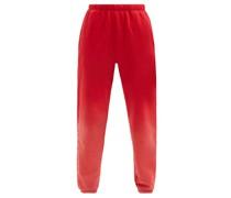 Ombré Brushed-back Cotton Track Pants