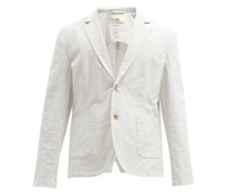 Single-breasted Cotton-blend Jacket