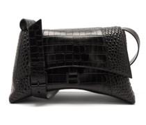 Hourglass M Crocodile-effect Cross-body Bag