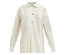 Julian Half-placket Striped Silk-blend Shirt