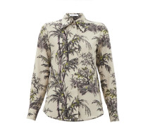 Little Prince Chinoiserie-print Silk Shirt