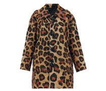 Single-breasted Leopard-pattern Sequin Coat