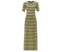 Cher Striped Cotton-blend Maxi Dress