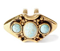 Turquoise-cabochon Double Ring