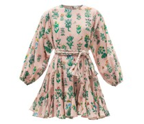 Ella Floral-print Cotton Mini Dress