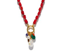 Sweet Escape Coral And Gold-plated Necklace