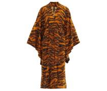 Tiger-print Jersey Robe