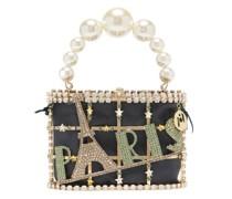 Holli Paris Crystal-embellished Cage Handbag