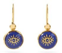 Evil Eye Lapis-lazuli & Gold-plated Earrings