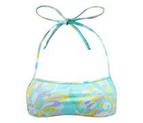 Halterneck Lilly-print Bikini Top