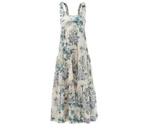 Cassia Tiered Floral-print Cotton Dress
