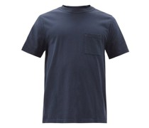 Patch-pocket Pigment-dyed Cotton-jersey T-shirt