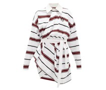 Long-sleeved Striped-cotton Rugby Shirt Dress