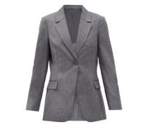 Single-breasted Wool-flannel Jacket