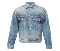 Diagonal Logo-print Denim Jacket