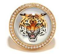 Tiger Diamond, Mother-of-pearl & 14kt Gold Ring