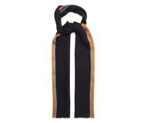 Artist-stripe Herringbone Wool-blend Scarf