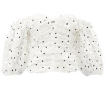 Floral-crochet Off-the-shoulder Bustier Top