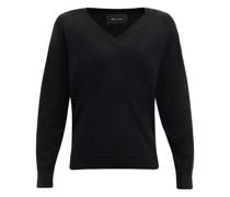 Faux Pearl-embellished Cut-out Wool-blend Sweater