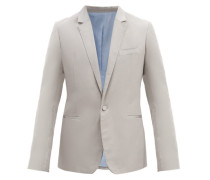 Single-breasted Silk-blend Jacket And Cummerbund