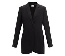 Valentina Single-breasted Wool Longline Jacket