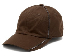 Logo-piping Cotton Baseball Cap