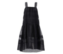 Andes Pintucked Silk-organza Dress