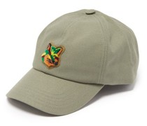 Neon Fox Head Logo-patch Cotton-blend Cap