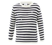 Crystal-embellished Striped Wool-blend Sweater