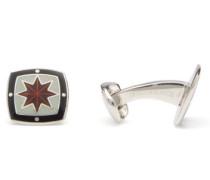 Star Enamel & Sterling-silver Cufflinks