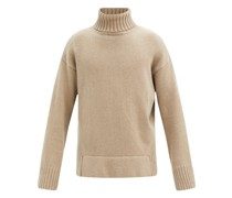Justin Ribbed-back Wool-blend Roll-neck Sweater