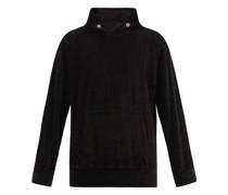 Cotton-blend Velour Hooded Sweatshirt