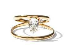 Eclipse Diamond, Topaz & 14kt Gold Ring