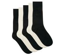 Pack Of Five Bamboo-blend Socks