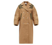 Double-breasted Cotton-blend Twill Coat