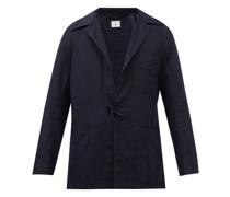 Drawstring-front Wool-blend Overshirt