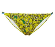 Halle Lemon-print Bikini Briefs
