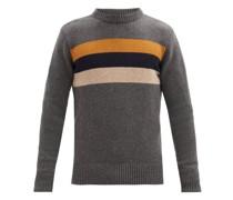 Blenheim Intarsia-striped Wool Sweater