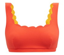 Palm Springs Reversible Scalloped-edge Bikini Top