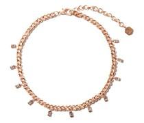 Link Diamond & 18kt Rose-gold Chain Choker