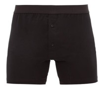 Buttoned Superfine-cotton Boxer Briefs
